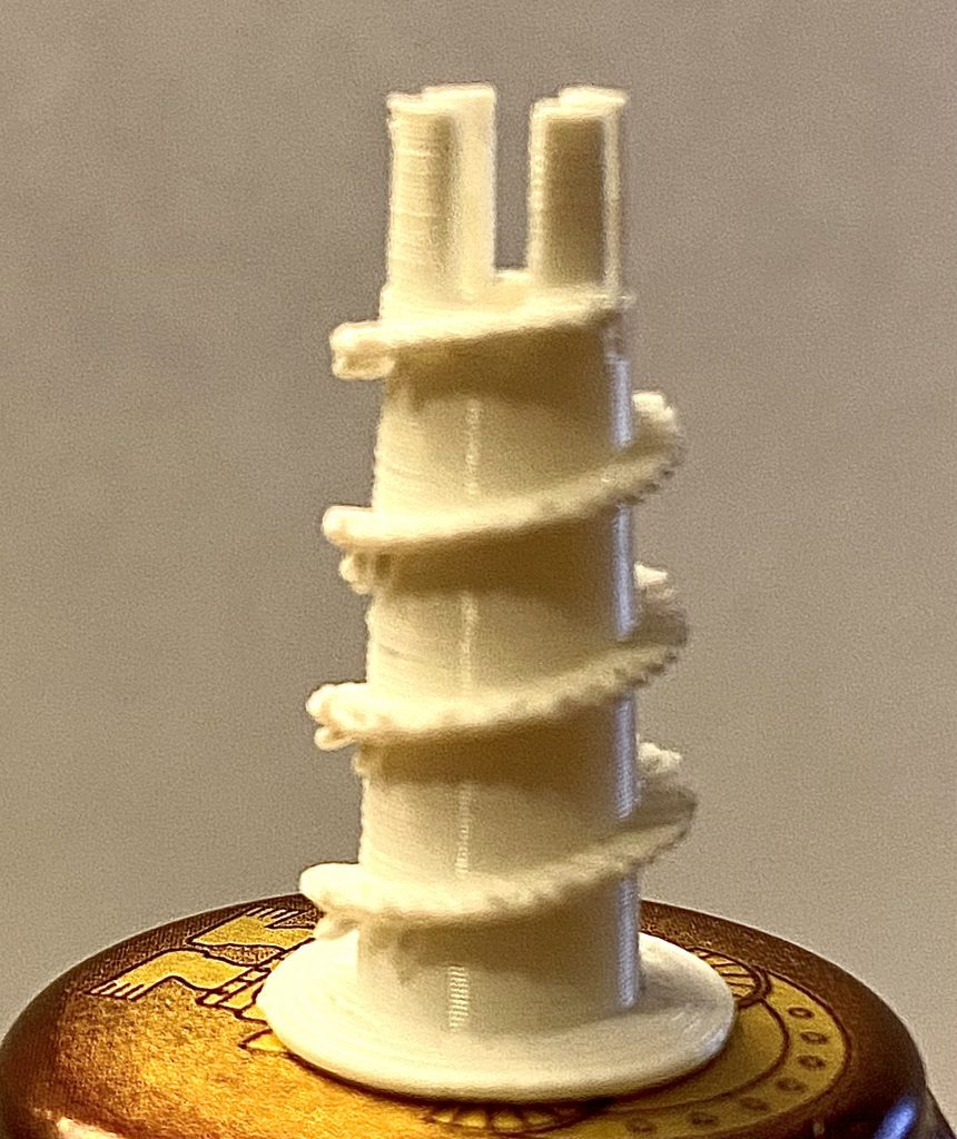 3D Gedruckter Dübel fir Gipskartonwände